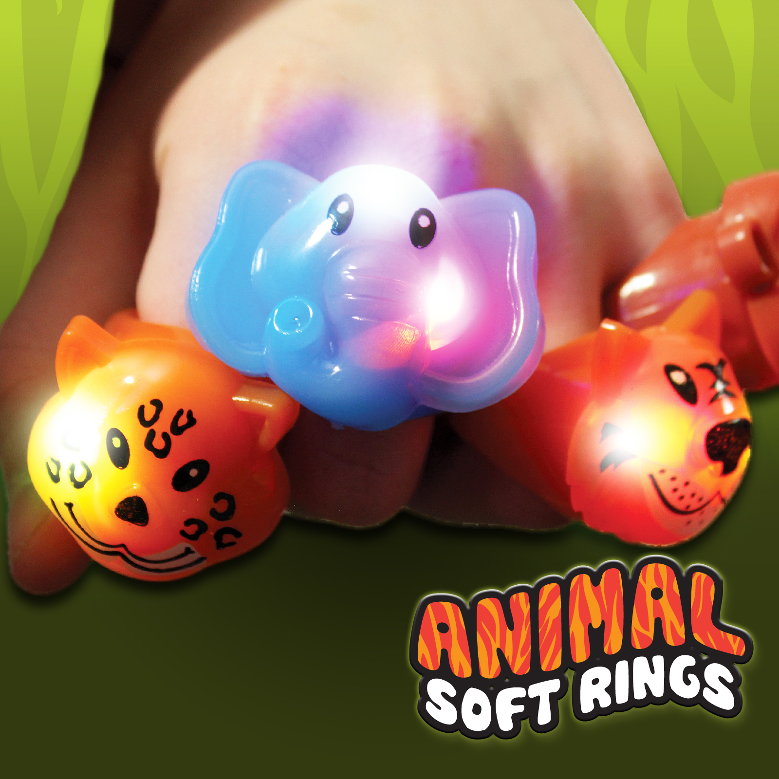 Image of Flashing Animal Soft Rings Wholesale