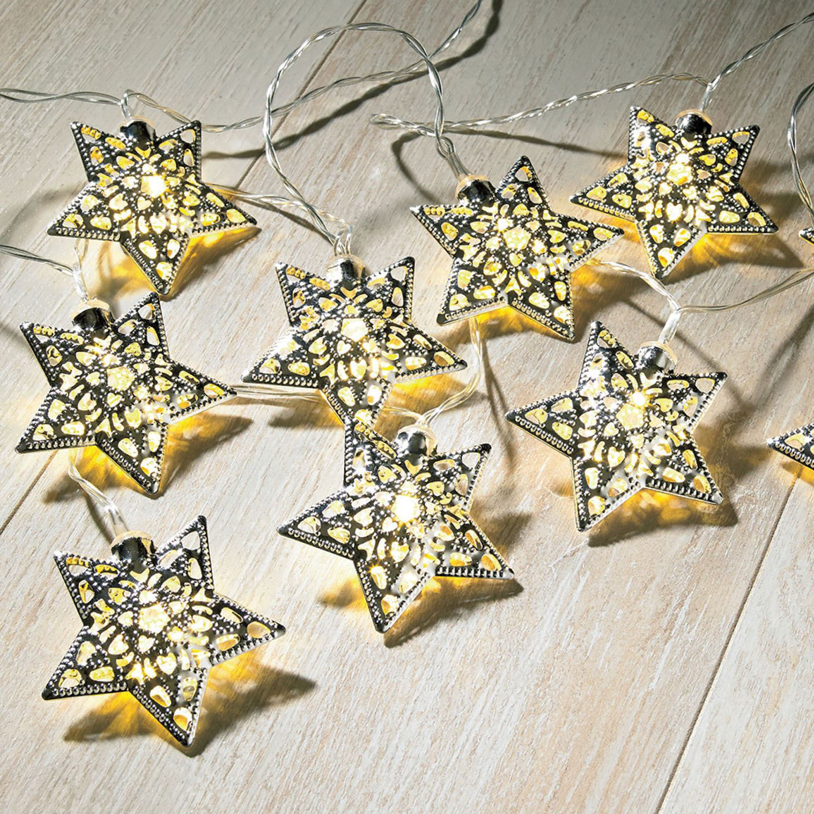 12 Solar Star String Lights