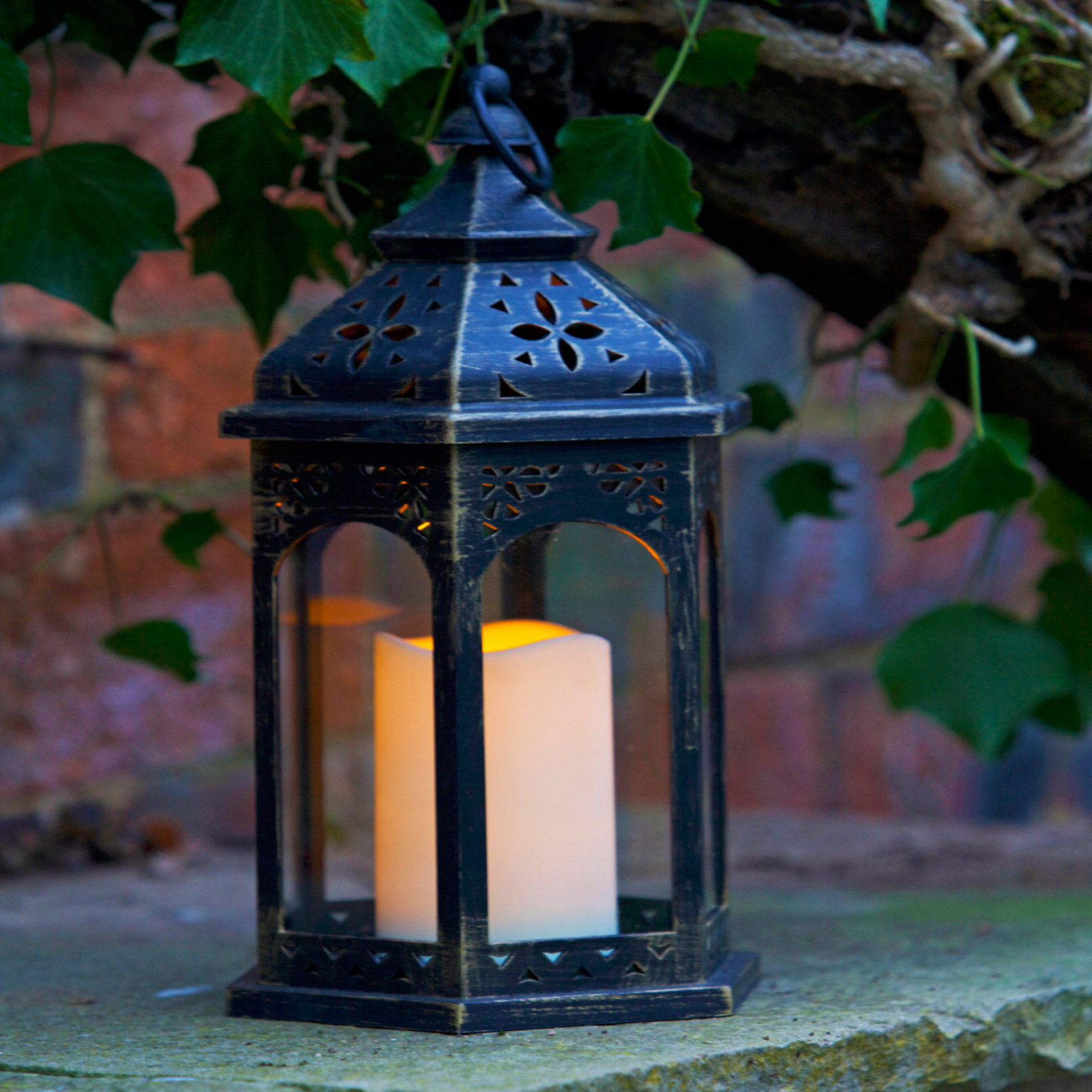 Click to view product details and reviews for Timer Led Moroccan Lantern.