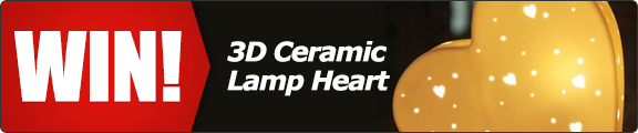 Get in the mood for love and win a ceramic heart lamp! - click for details