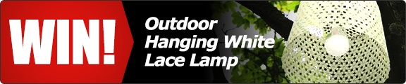 Win a decorative Outdoor Hanging Lace Lamp! - click for details