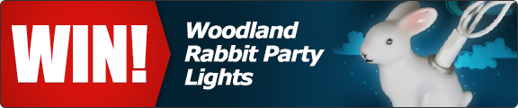 Win a set of Woodland Rabbit Party Lights! - click for details