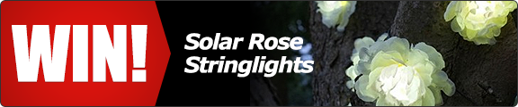 Welcome spring to your garden with a set of solar rose stringlights! - click for details