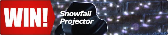 Win an outdoor snowflake projector lamp - click for details