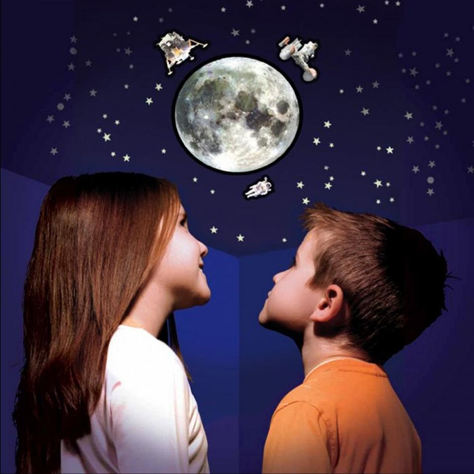 Moon, Stars & Clouds