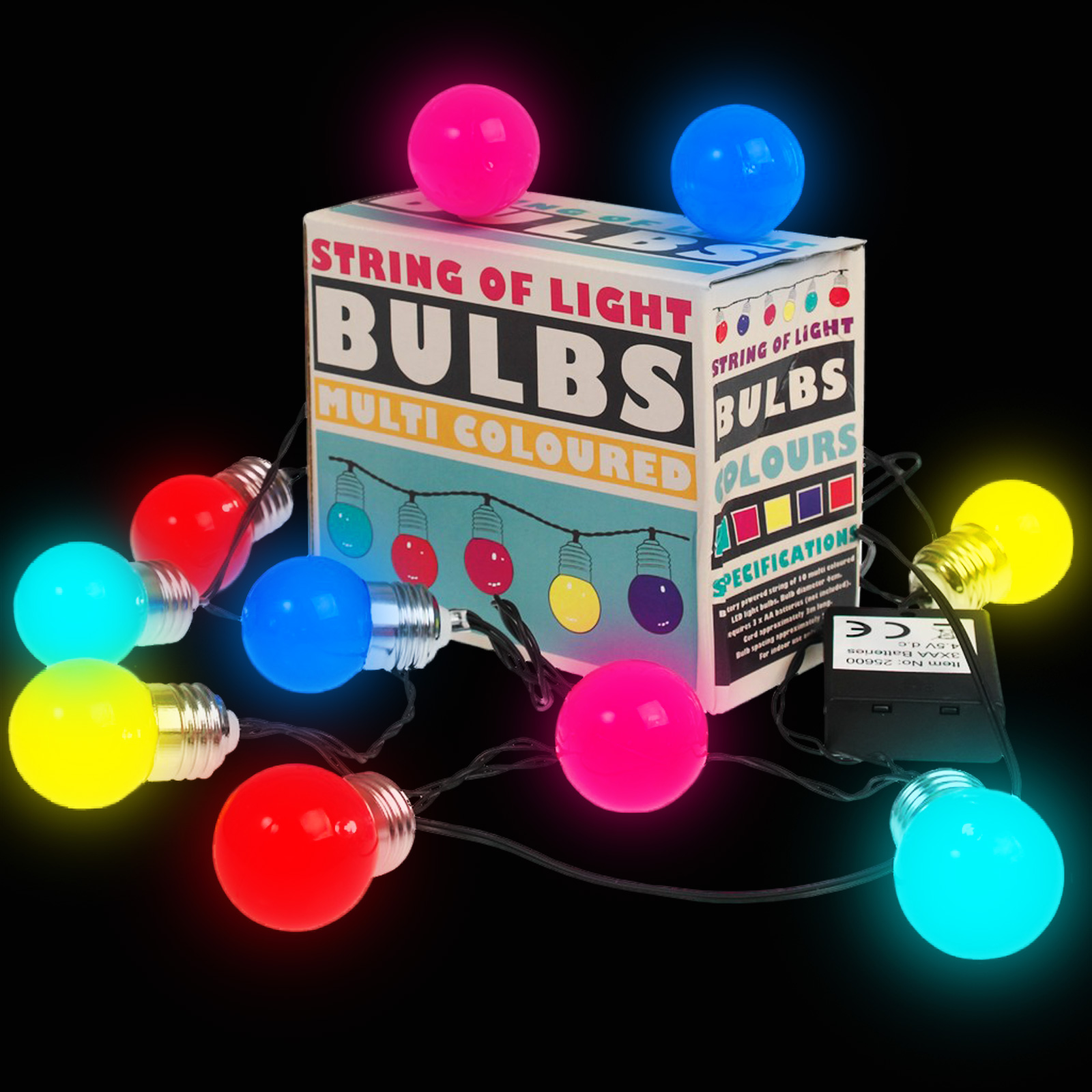 Click to view product details and reviews for 10 Led Battery Operated String Of Light Bulbs.