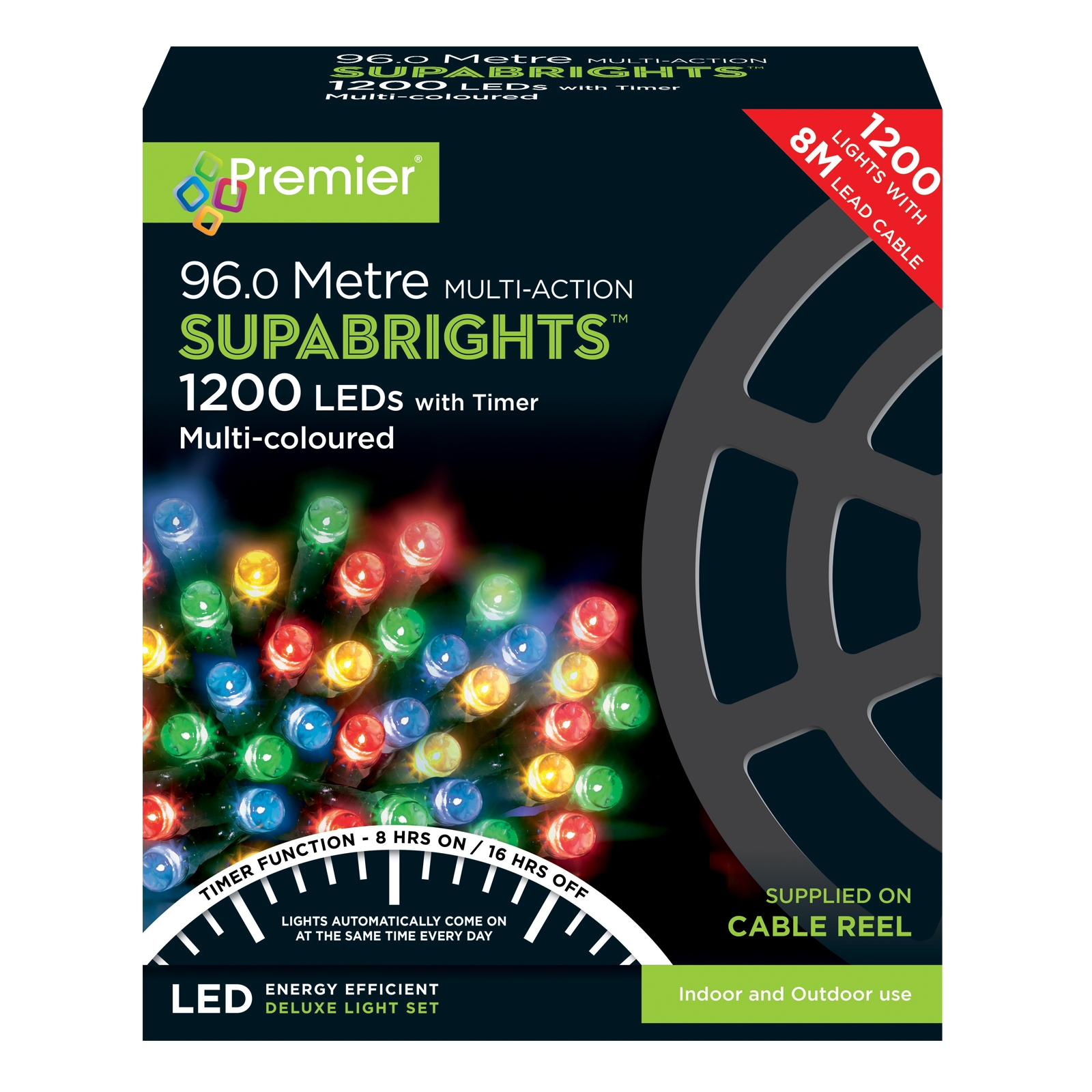 Click to view product details and reviews for 1200 Led Multi Coloured Supabright String Lights.