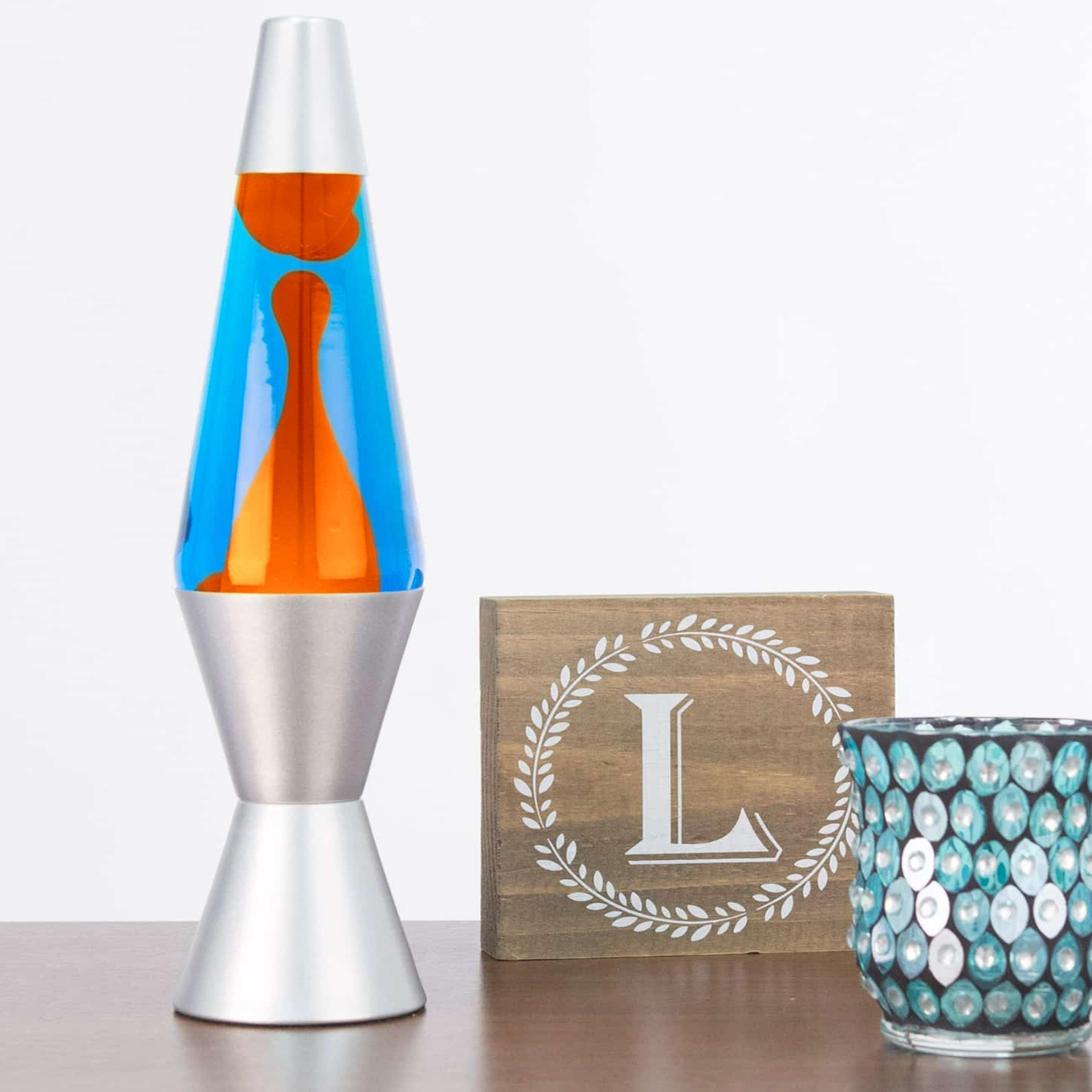 145 Lava Brand Lava Lamp Orange Blue