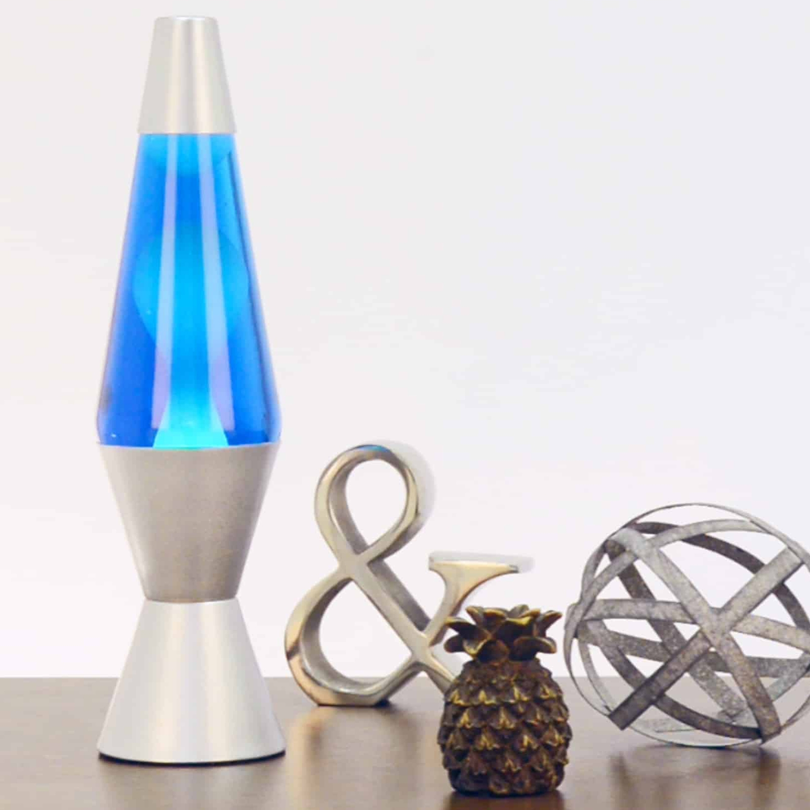 145 Lava Brand Lava Lamp White Blue
