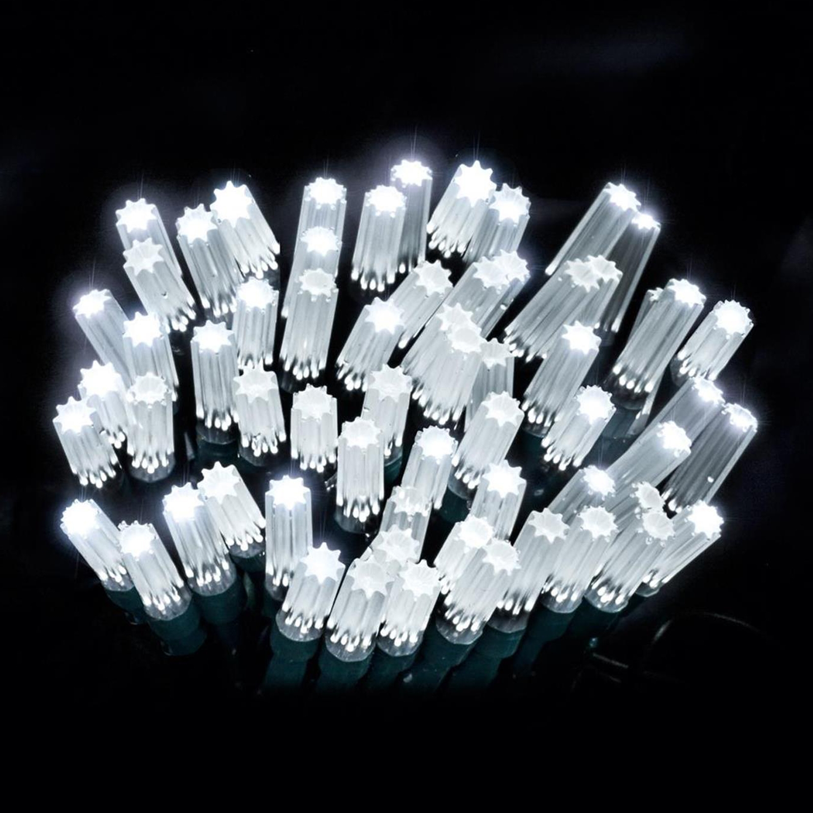 Click to view product details and reviews for 15m Star Caps White.