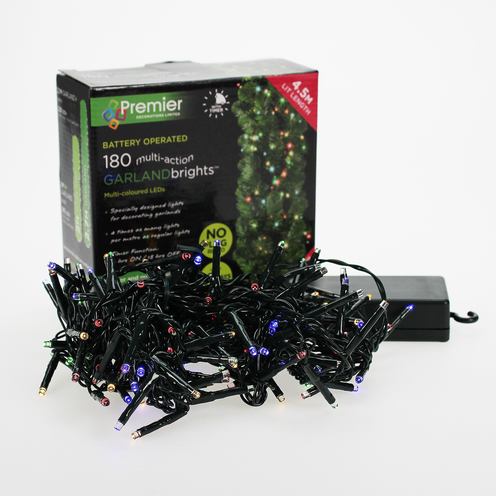 Click to view product details and reviews for 180 Led Garland Light B O.