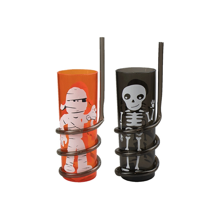 Spooky Spiral Straw Tumblers 2 Pack