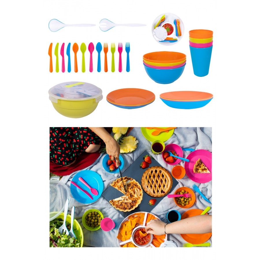 33 Piece Stacking Picnic Set By Bello