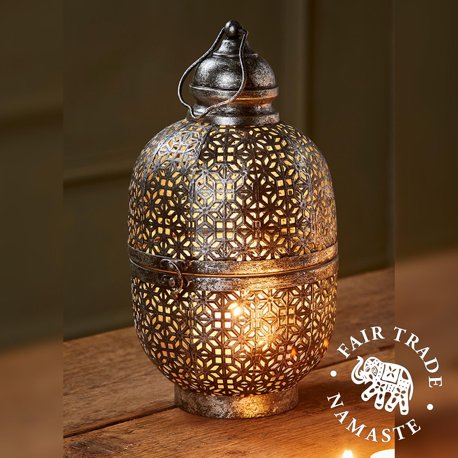 Cutwork Dome Lantern 33cm Fair Trade Lt185