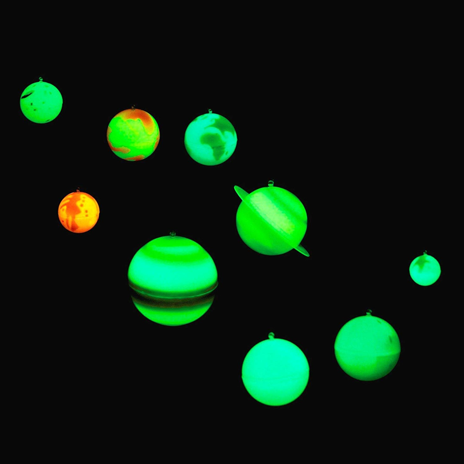 Glowing 3d Solar System