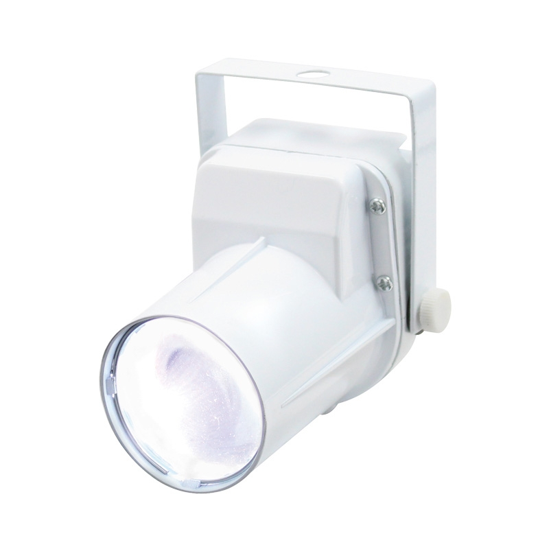 Click to view product details and reviews for 3w Led Pinspot White For Disco Balls.