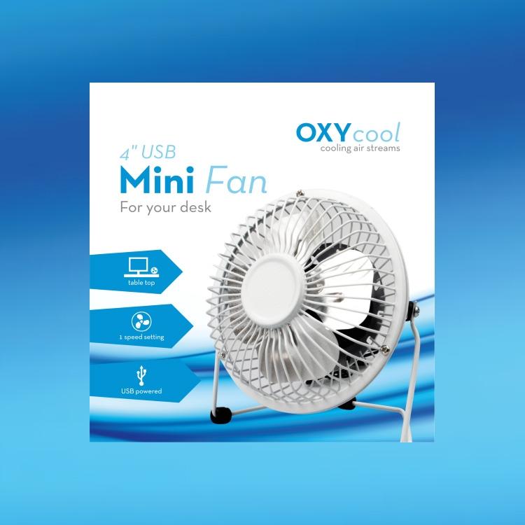 4 Usb Mini Desk Fan