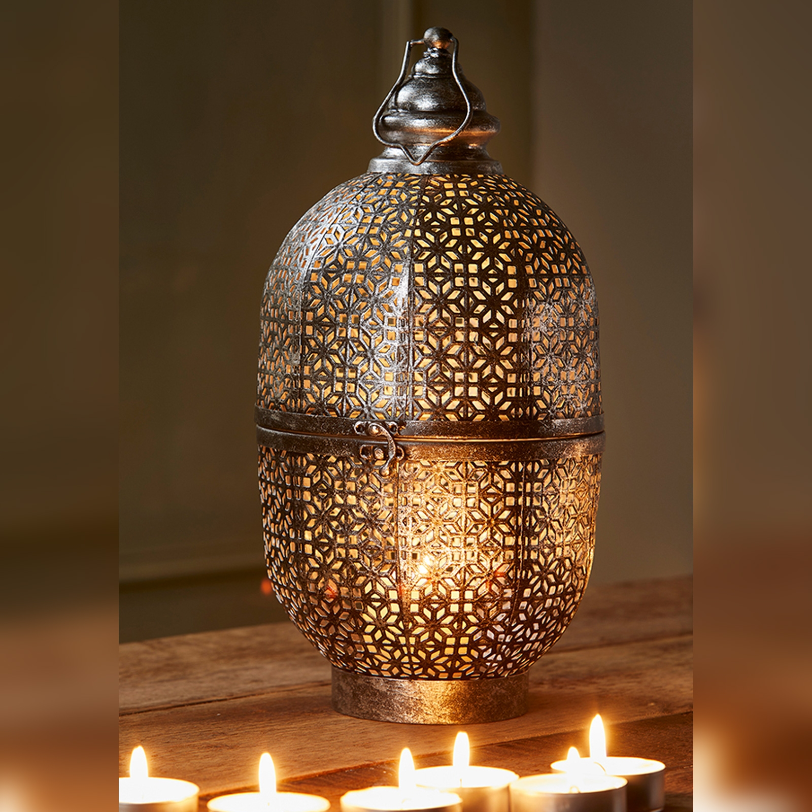 Click to view product details and reviews for Cutwork Dome Lantern 42cm Fair Trade Lt186.