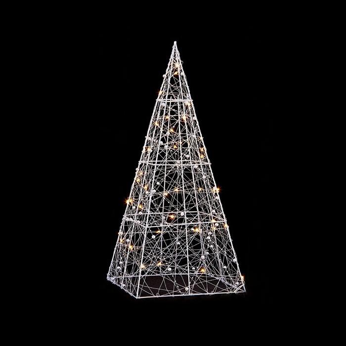58cm Pre Lit Pyramid Decoration