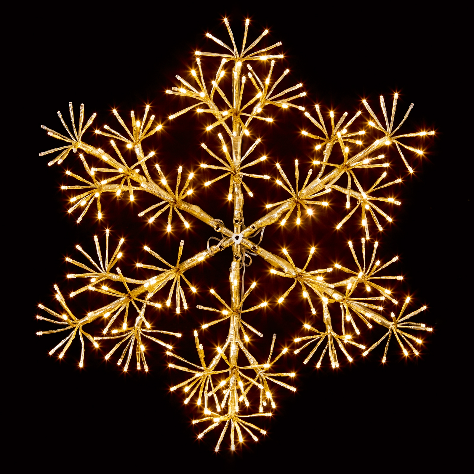 Click to view product details and reviews for 60cm Gold Starburst Snowflake Decoration.