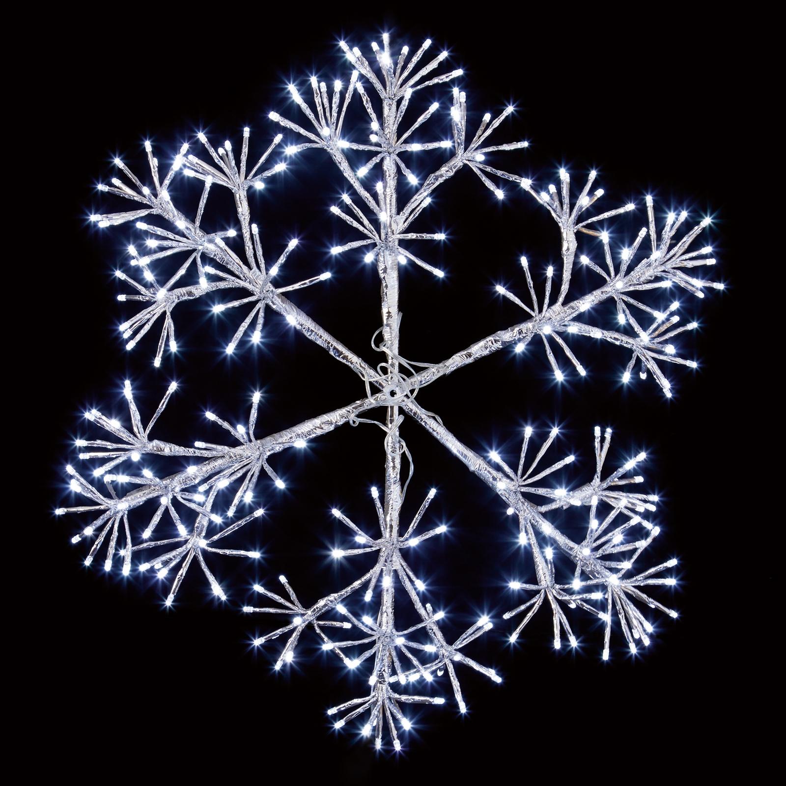 60cm Silver Starburst Snowflake Decoration