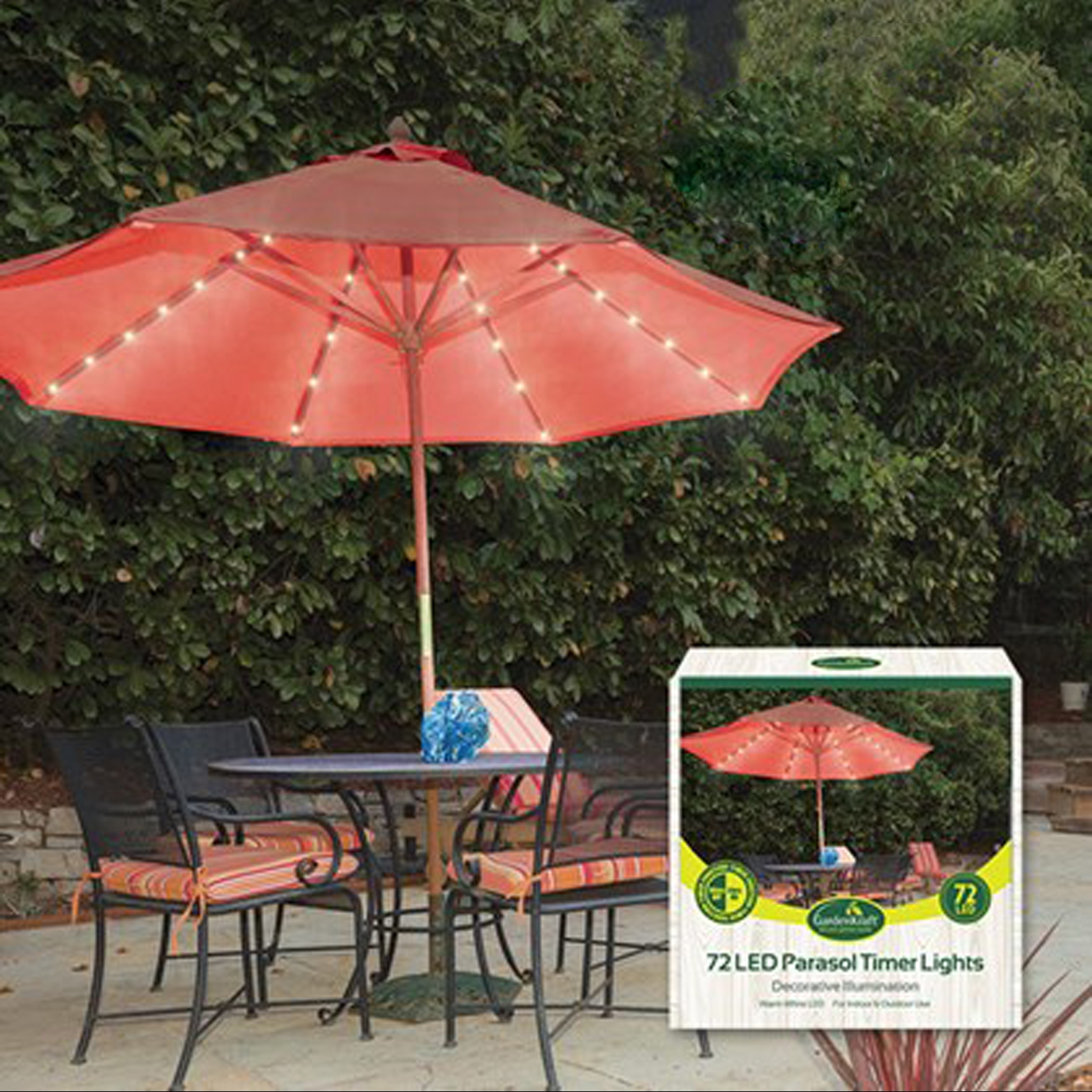 Click to view product details and reviews for 72 Led Parasol Multi Function Lights.