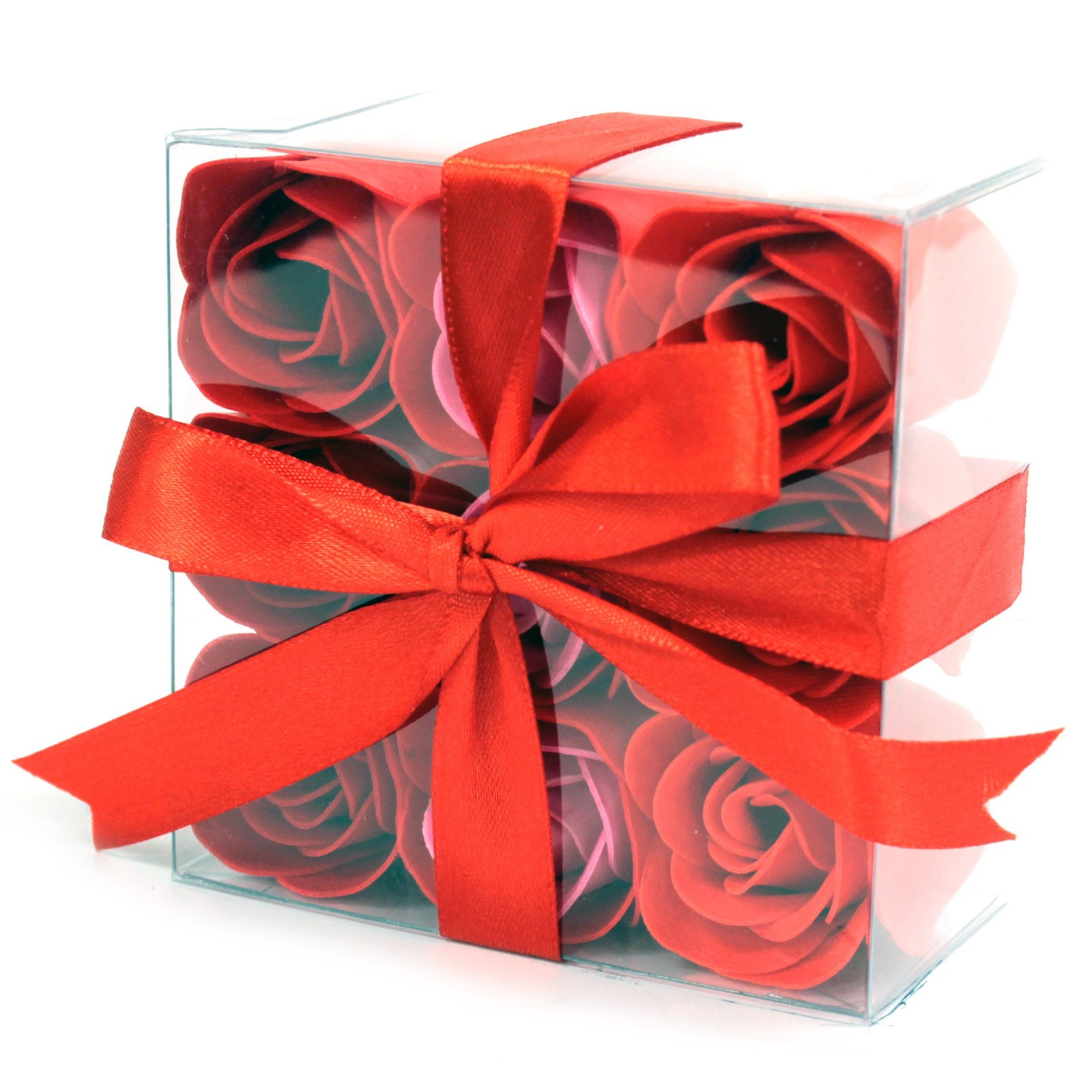 Click to view product details and reviews for 9 X Red Rose Soap Flowers.