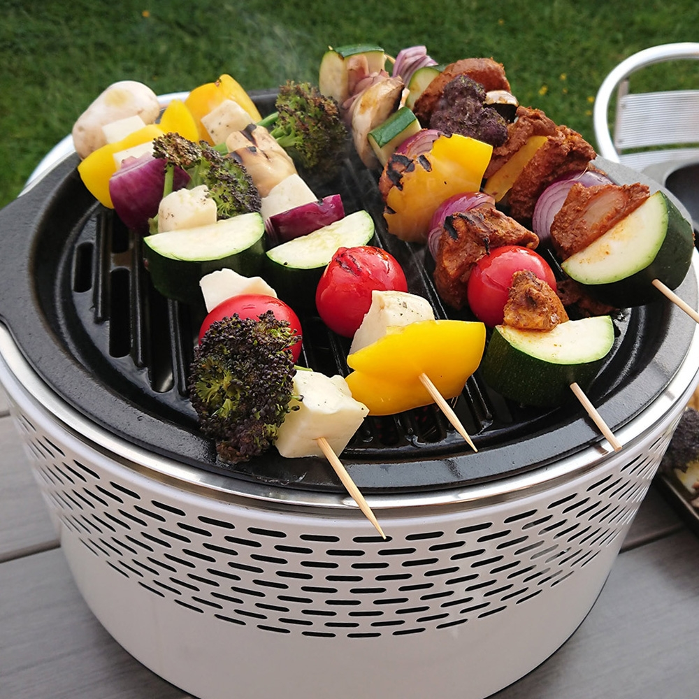 Click to view product details and reviews for Bco Alfresco Smokeless Charcoal Bbq Grill White.