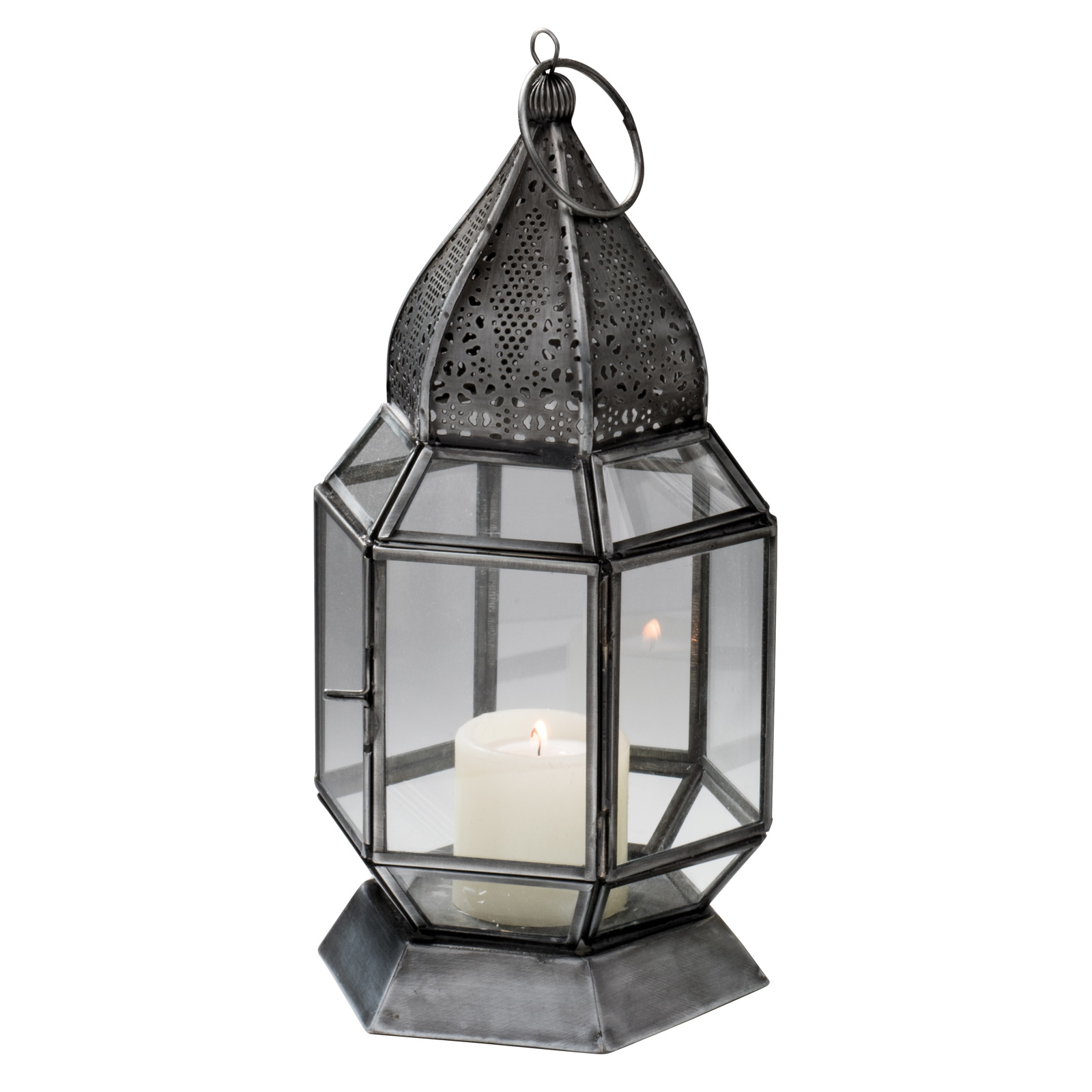 Click to view product details and reviews for Antique Finish Moroccan Glass Lantern 25cm Lt135.