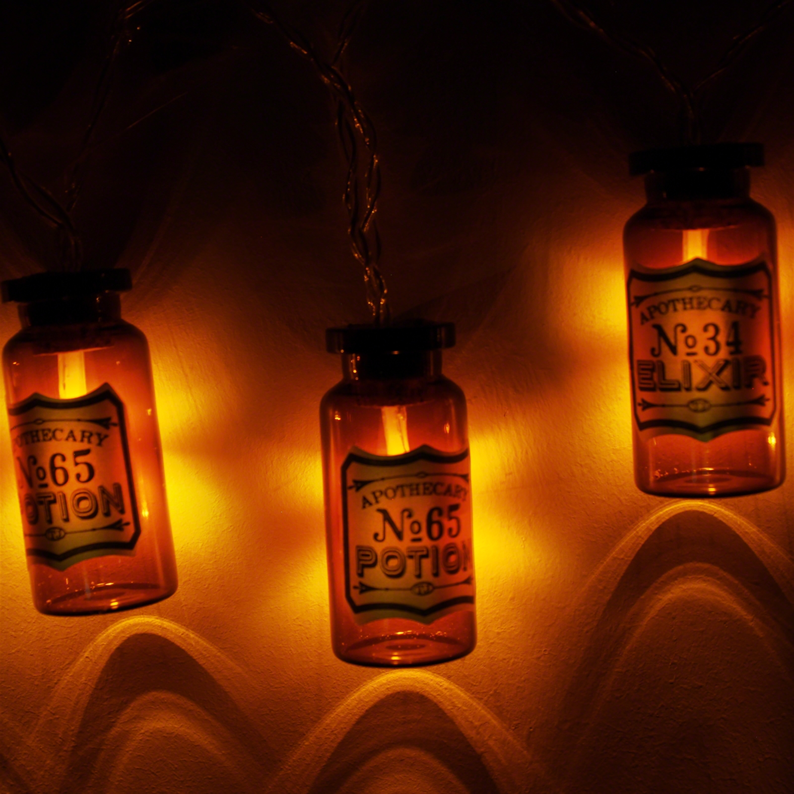 Apothecary Medicine Bottle Stringlights