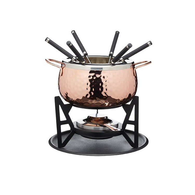 Valentine's Day Artesa Hand Finished Copper Effect Fondue Set