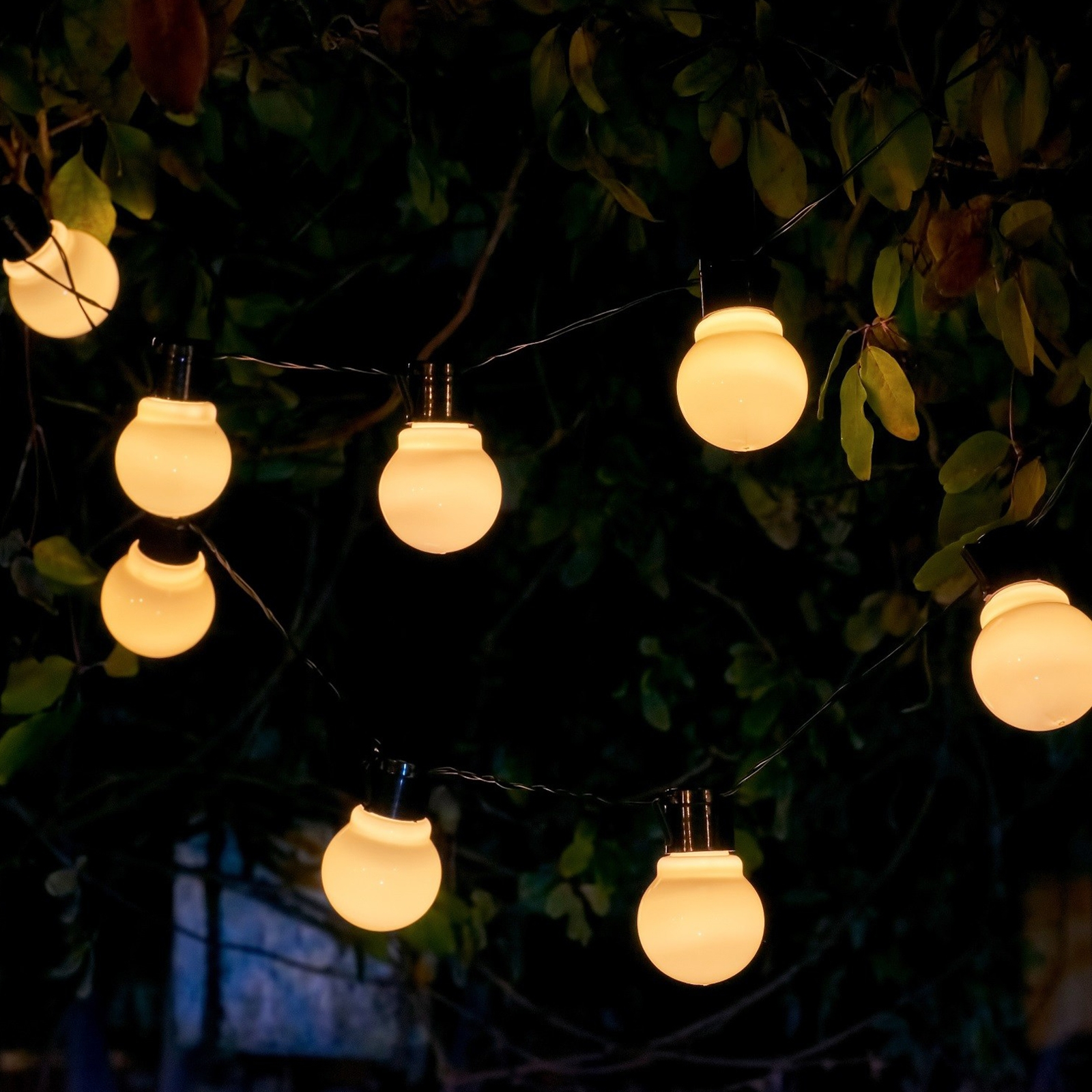 Click to view product details and reviews for Auraglow Solar Festoon Lights White.