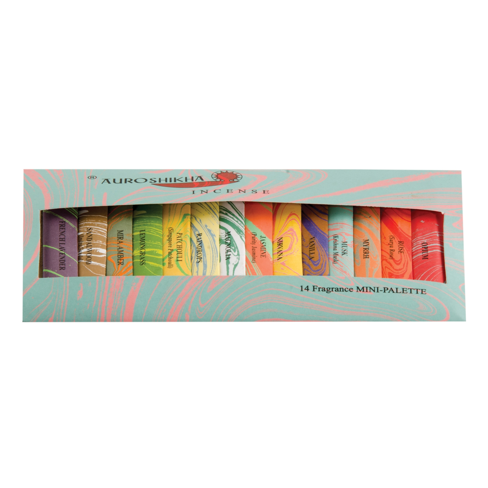 Click to view product details and reviews for Auroshika Mini Incense 14 Fragrance Pack.