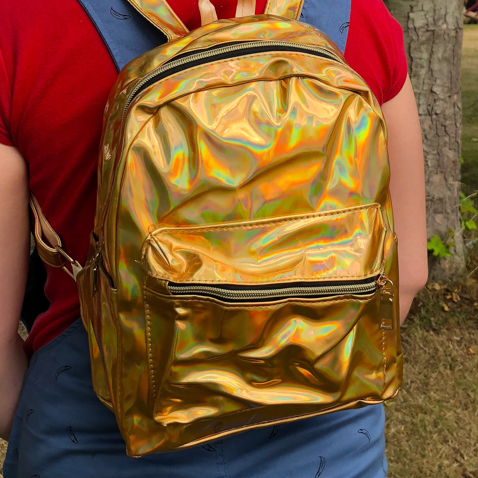 Click to view product details and reviews for Gold Holographic Back Pack.