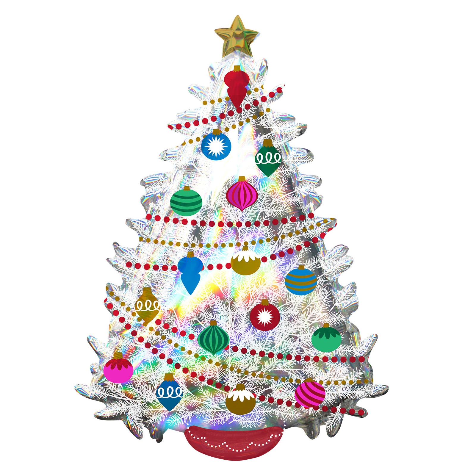 Click to view product details and reviews for Super Shape 91cm Iridescent Christmas Tree Balloon.