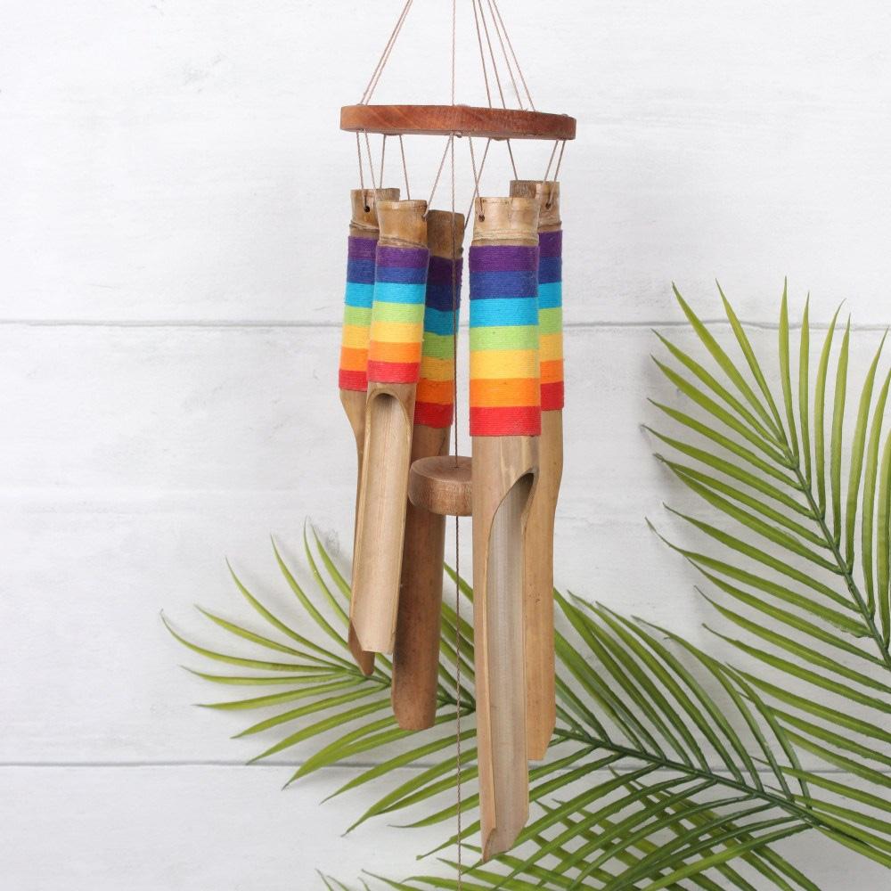 Bamboo Rainbow Windchime