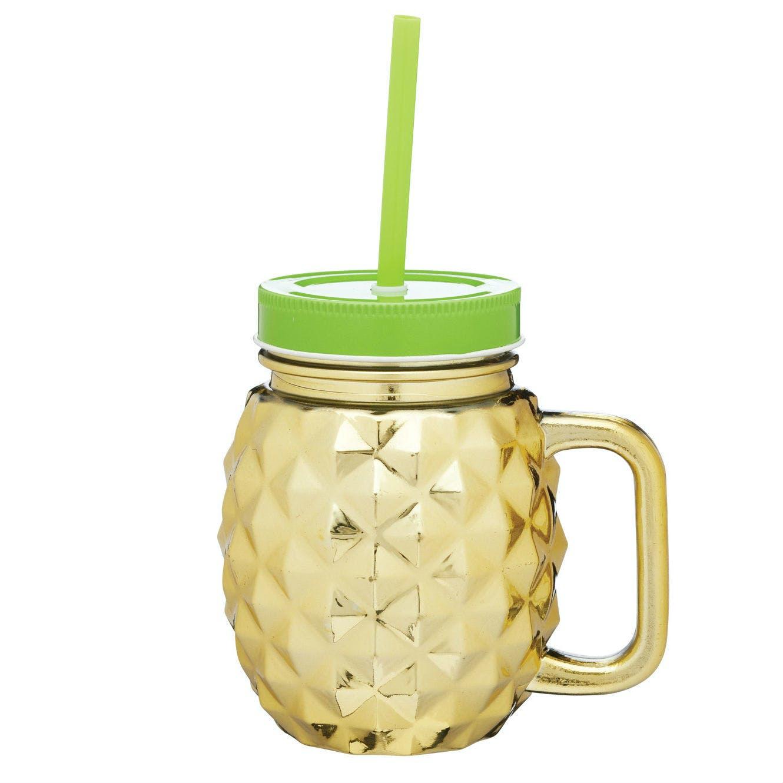 Glass Pineapple Drinks Jar X 4