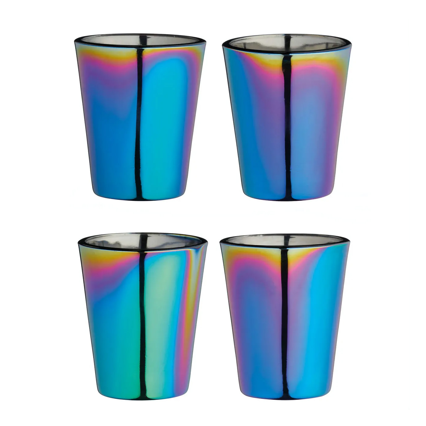 Click to view product details and reviews for Metallic Rainbow Shot Glass Set.