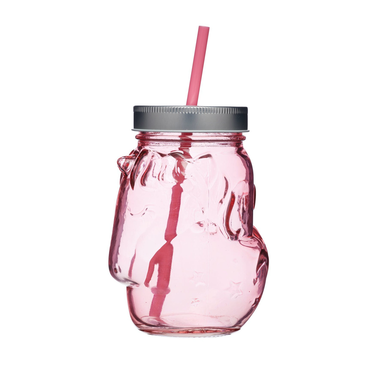Click to view product details and reviews for Unicorn Pink Glass Drinks Jars X 4.