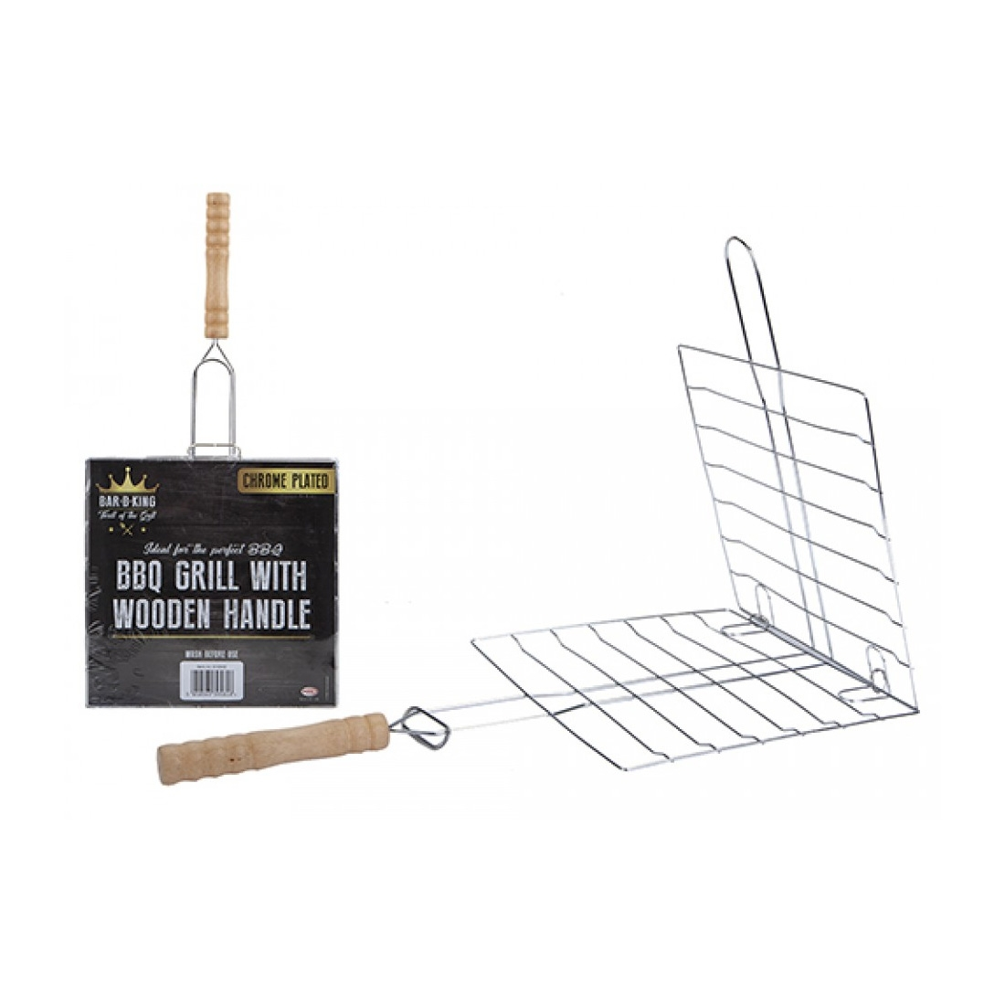 Click to view product details and reviews for Bbq Grill With Wooden Handle.