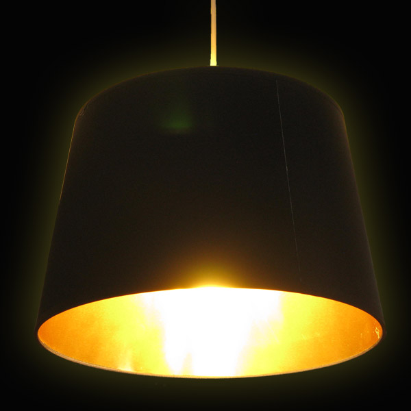 Black And Gold Lamp Shade 17859
