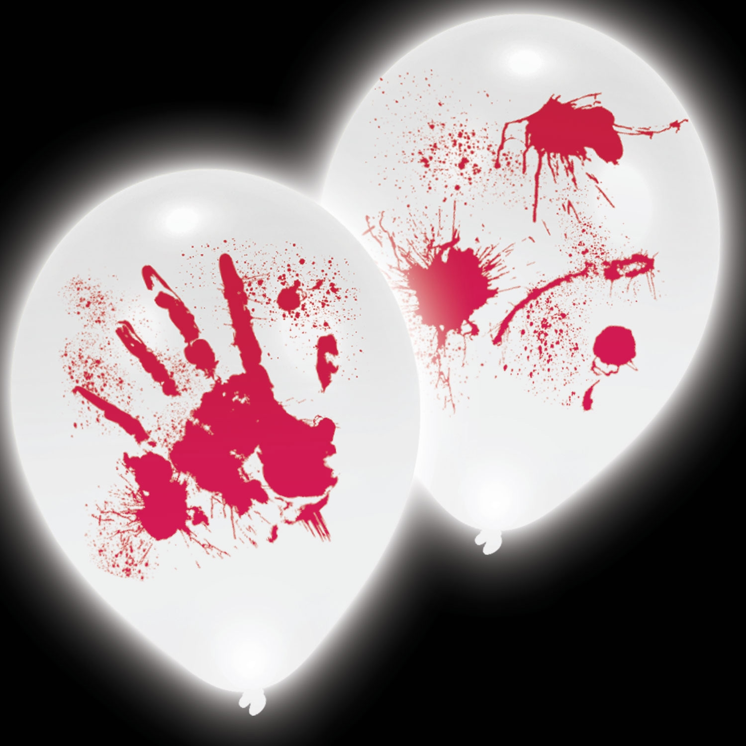 Click to view product details and reviews for Bloody Hands Led Balloons 4 Pack.