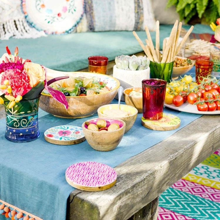 Click to view product details and reviews for Boho Fabric Table Runner.