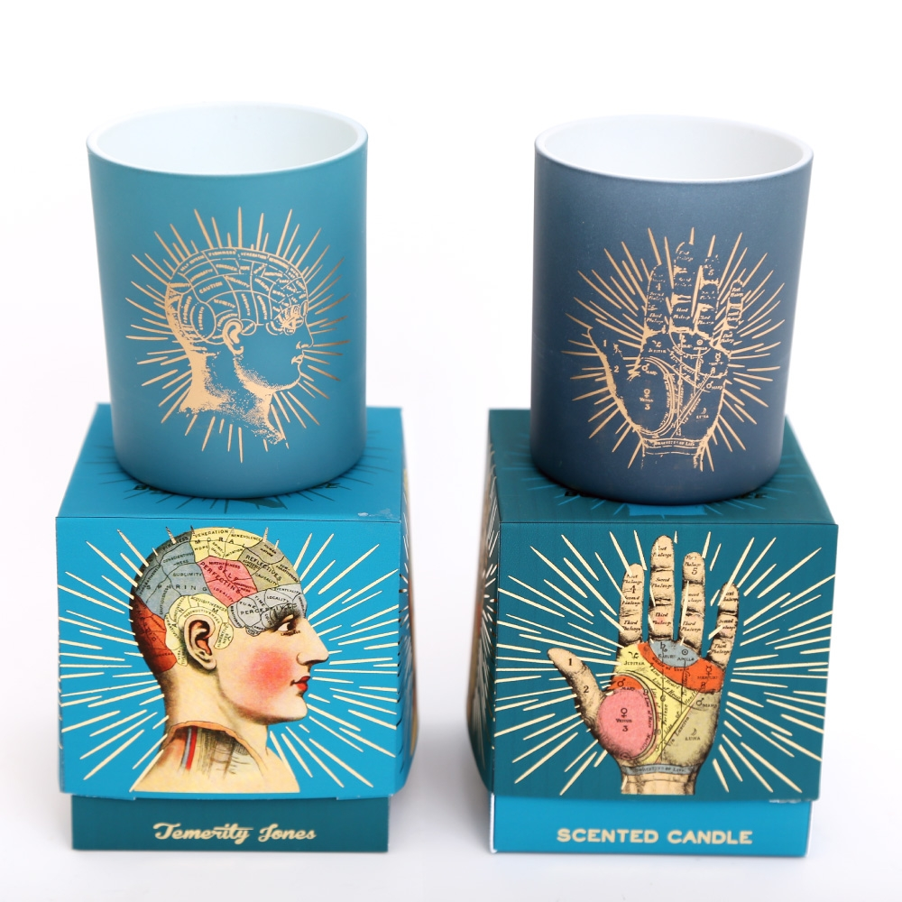Click to view product details and reviews for 2 X Boxed Phrenology And Palmistry Scented Candle Set.