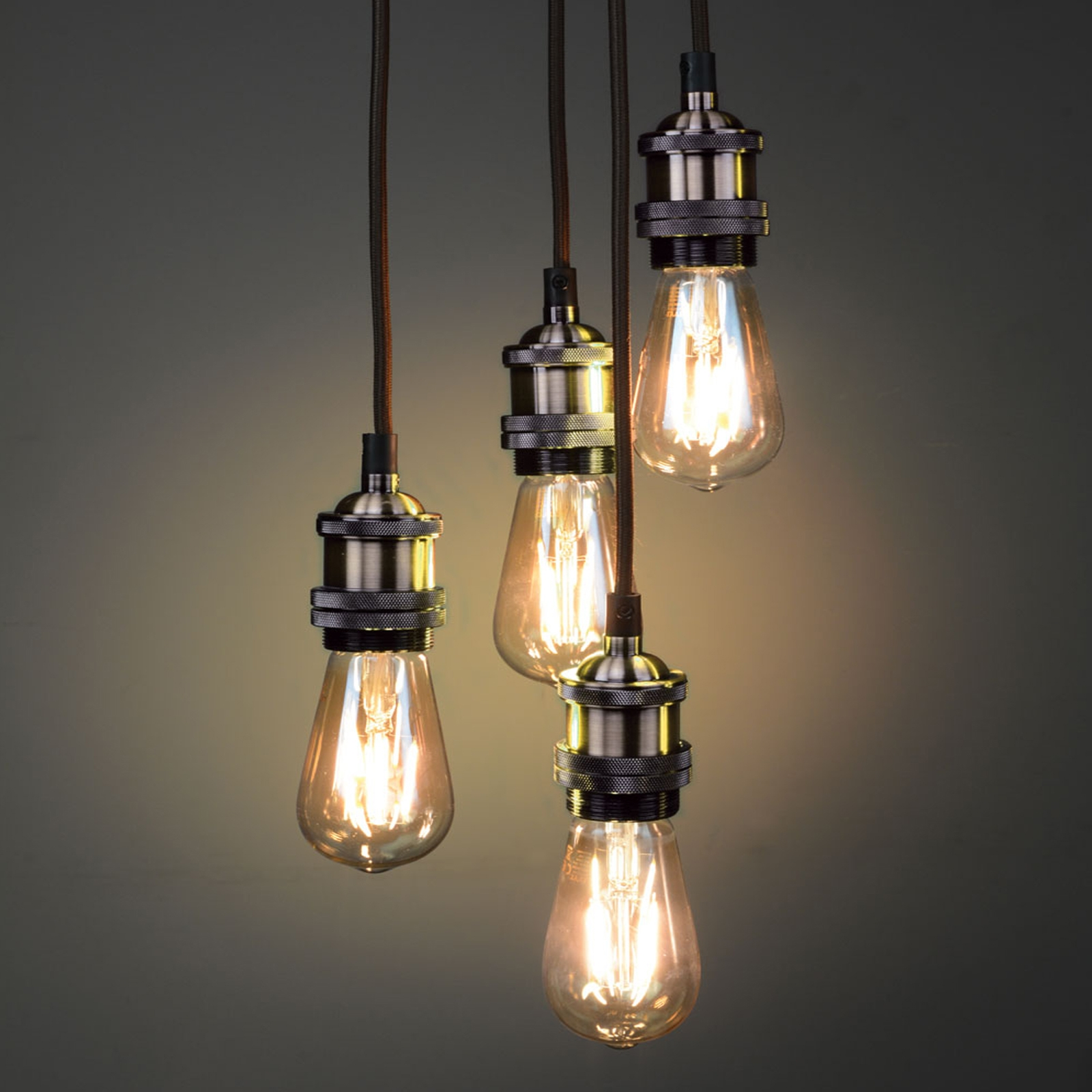 Click to view product details and reviews for Brass Quad Pendant.