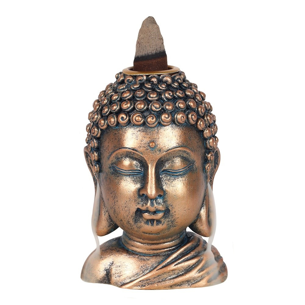 Click to view product details and reviews for Bronze Buddha Head Backflow Burner.