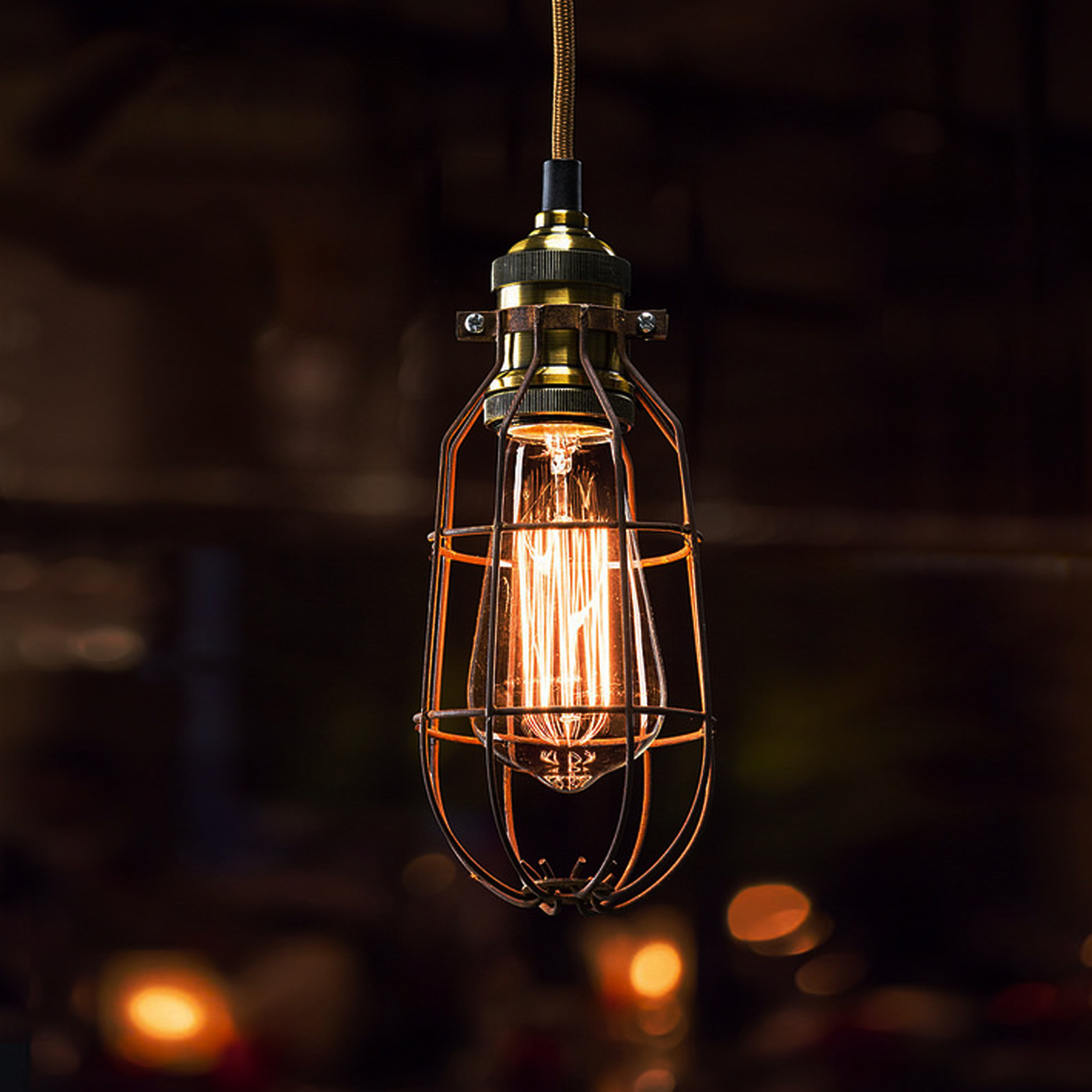 cage lighting. Bulb-Cage-Light-Fittings-bulb-cage-industrial-vintage- Cage Lighting -