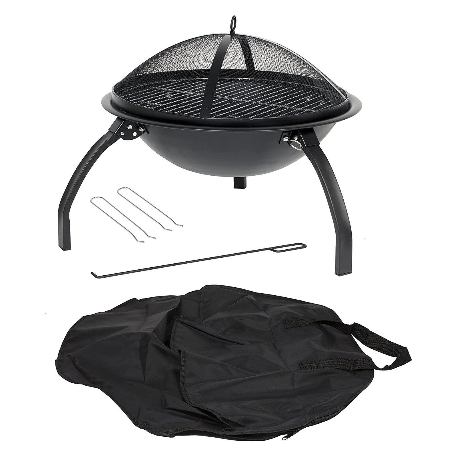 Camping Steel Fire Pit With Grill