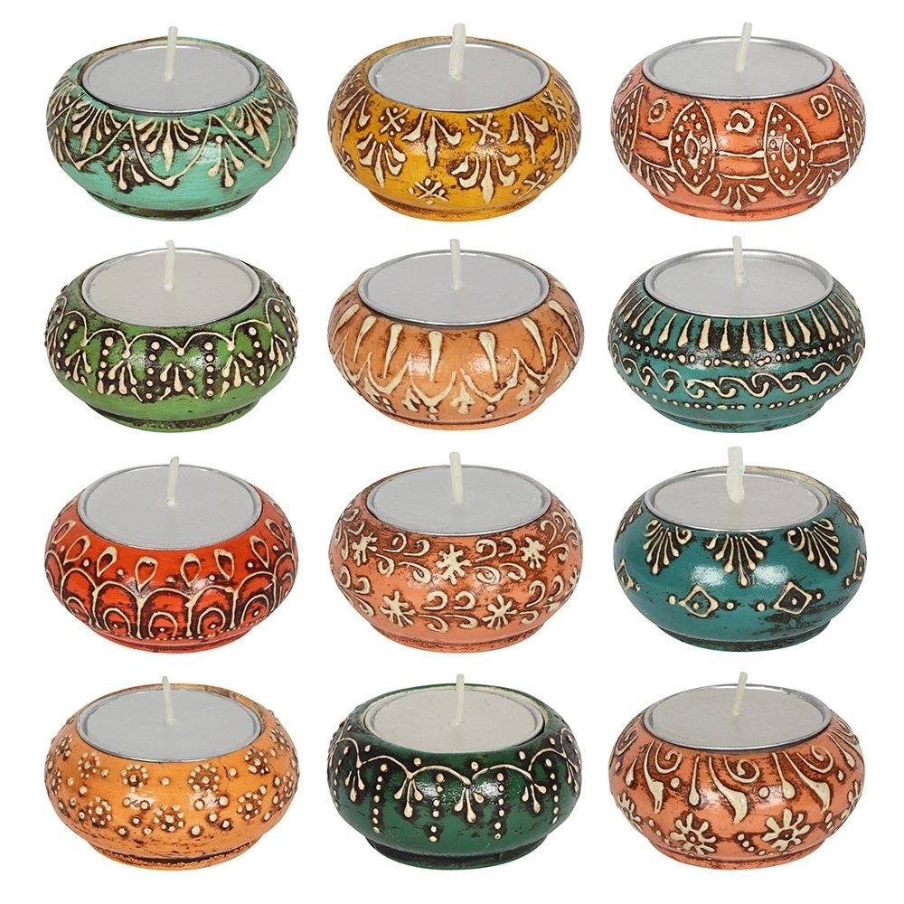Click to view product details and reviews for Colourful Indian Tealight Holders.