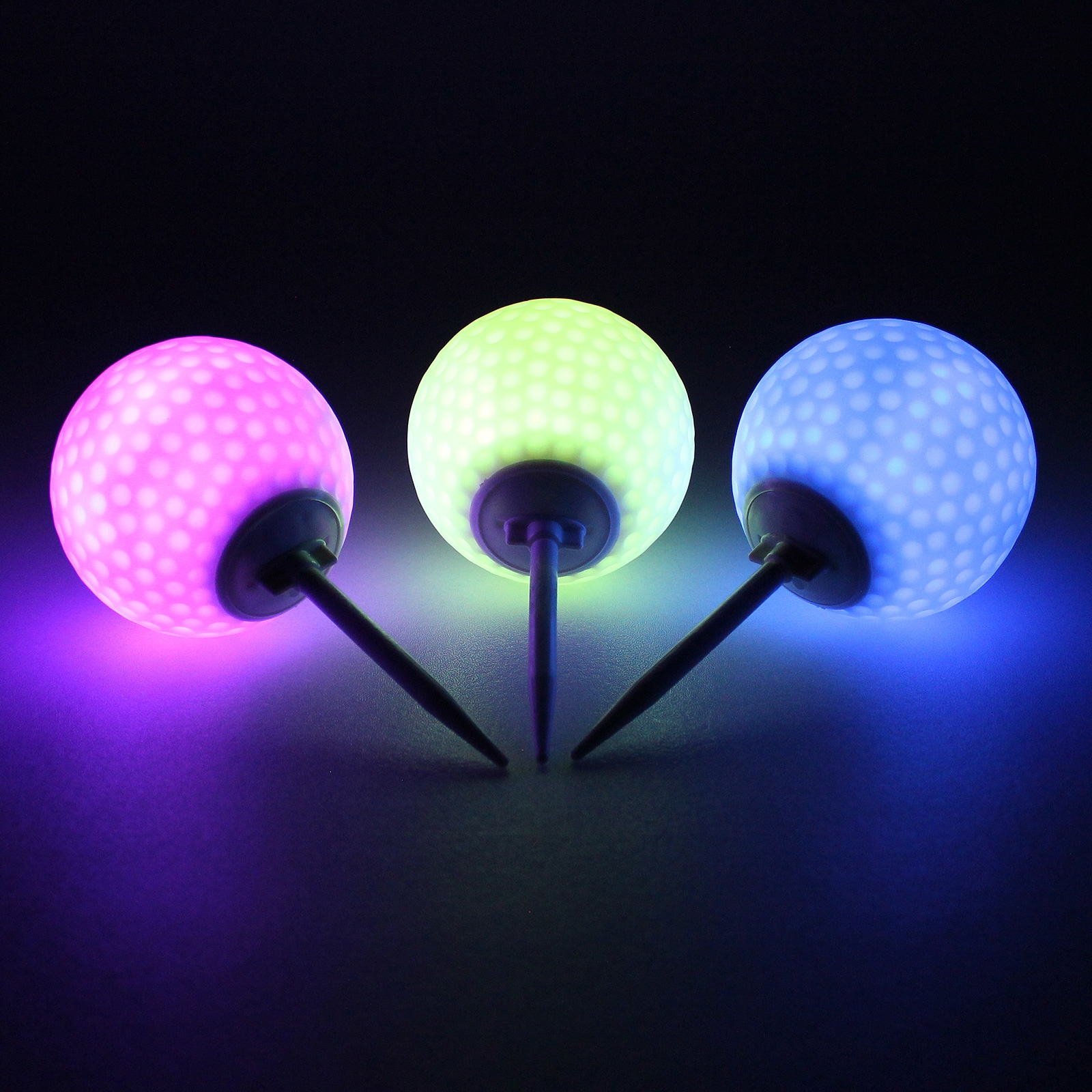 Click to view product details and reviews for Colour Change Golf Ball Path Lights 3 Pack.